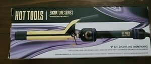 """Hot Tools Signature Series 1"""" Gold Curling Iron Wand"""