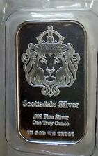 """2 Troy oz of Silver💰......... Scottsdale's <> 2 Silver Bars Called """"The One"""",🤑"""