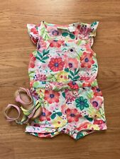 First Impressions Baby Girl 12 Month Summer Romper With Matching Size 3 Shoes