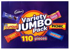 Cadbury Variety Jumbo Pack 110 Pieces 1.68kg Box Crunchie Picnic Boost Chocolate