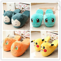 Cartoon Anime Character Snorlax Charmander Squirtle Peluche Coton Pantoufles