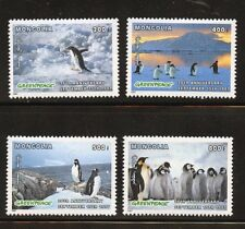 Penguins Set of 4 mnh stamps Greenpeace 26th Anniv. 1997 Mongolia Sc #2282-5
