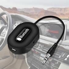 Car Wireless Bluetooth 3.5mm AUX Audio Stereo Music Receiver Adapter Mic