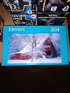 Encore Winter Barn Scene Puzzle - Factory Sealed - 504 Pieces