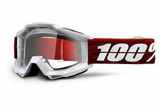100% Accuri Goggles (Graham Silver/Clear Lens)