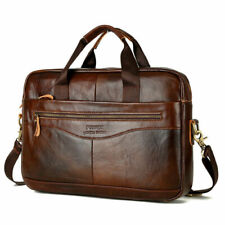 Herren Tasche Echt Aktentasche Schultertasche Umhängetasche Leder Handtasche