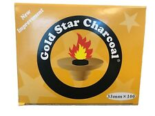 AUTHENTIC- Gold Star Charcoal 33 Mm Shisha Hookah Incense 10 Rolls  (100 Pieces)