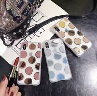 For iPhone 7/8 Plus Xmax Bling Glitter Shiny Dot Diamond Case Protective Cover