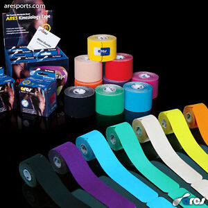 ARES TAPE Kinesiology Elastic Sports Tape - KT Support for Muscles & Joints