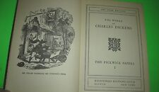 Pickwick Papers I Charles Dickens Registered Guild Library Art Type Edition HB