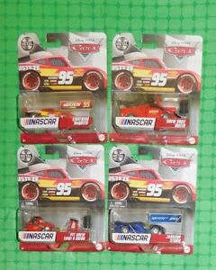 2021 Disney Pixar Cars - NASCAR - Lot of 4 - with Mater & Lightning McQueen