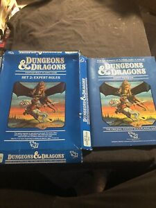 1983 Dungeons Dragons Set 2: Expert Rules, The Isle of Dread & Module B2 1012