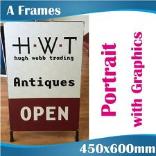 Double Sided Colorbond A-Boards A-Frame signs 450x600cm in portrait with Print