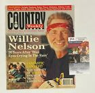 """WILLIE NELSON Signed Autograph Auto """"Country Weekley"""" 9/95 Magazine JSA COA"""