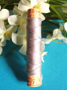 "381B / Superb Coil Drawstring Silk Gutermann "" Grey Of Linen "" N° 391"