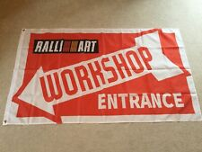 Mitsubishi Ralliart Evolution Shogun L200 workshop entrance flag banner