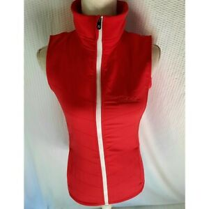 Footjoy Titleist Vest Women's XS Full Zip Red White Golf