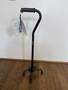 Vive Quad Cane Light Weight Adjustable Black