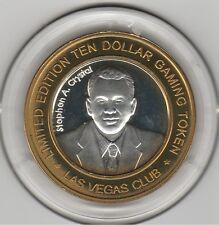 2005 Las Vegas Club Stephen A. Crystal .999 Fine Silver $10 Casino Token