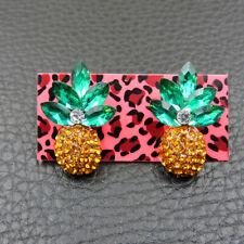 Hot Yellow Enamel Cute Pineapple Fashion Betsey Johnson Women Stud Earrings