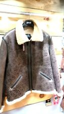 Schott Vintage Sheepskin Bomber LEATHER JACKET B-6 Jacket NEW/TG Made in U.S.A