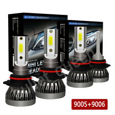 Mini 9005 9006 Combo LED Headlight Kit 3000W Fog Light Bulbs High Low Beam 6000K