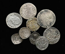 GERMAN STATES. Lot of 9 assorted silver issues, 1700's or earlier
