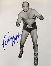 VERNE GAGNE, AWA Wrestler Original Autographed 8X10 Photo (RARE Signature)