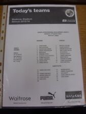 17/03/2014 Reading Youth v Chelsea Youth  (single sheet). If this item has any f