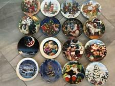 Avon Christmas Collector Plates Lot of 16 Orig Boxes 1989 - 2007 Xmas