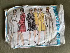 Vintage Vogue Sewing Pattern 2256, Dress And Coat, Size 16, Cut