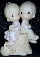 1976 Precious Moments Figurine Jonathon & David Love One Another E1376