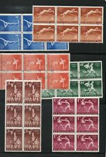 BULGARIA 1956 OLYMPIC SPORTS..SET OF SIX IN CTO BLOCKS OF SIX.