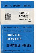 BRISTOL ROVERS V DONCASTER ROVERS  3RD DIVISION 25/2/67