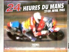 Affiche  24 Heures du Mans  Moto    1985      SUZUKI  poster course