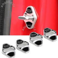 Stainless Car Door strikers Lock Guard Cover trim 4pcs For Jaguar XF 2008-2019