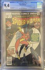 CGC 9.4 SPIDER-WOMAN #1 White Pages Marvel Comics 1978 Jessica Drew New Origin
