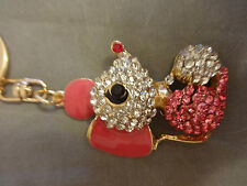 Luxury Gift MOUSE KEYRING Crystal -encrusted - NEW - YOU CHOOSE!