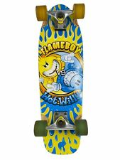 """World Industries 27.5"""" Longboard Skateboard Flameboy Vs Wet Willy Flames"""
