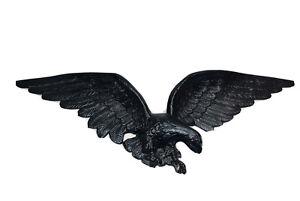Vintage  Black Eagle Large 29' Wall Hanging Cast Metal #7032