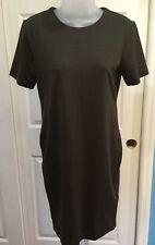 NWOT H&M Junior Medium Solid Brown Short Sleeve Above Knee Career Dress