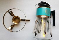 Beautiful!condition DAVID DOUGLAS Mid-Century 8-Cup Glass Coffee Pot Percolator