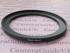 72mm to 86mm Male-Female Stepping Step Up Filter Ring Adapter