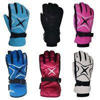 XTM Les Star Ladies Warm Winter Snow Ski Gloves Sz XS - L Pink White Aqua Black