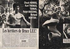 Coupure de presse Clipping 1985 Les héritiers de Bruce Lee  (4 pages)