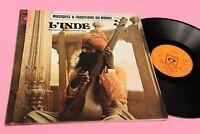 LP L'INDE LE BHAKTI YOGA ORIG FRANCIA 1972 EX+ COP APRIBIEL ED INSERTO !!!!!!!!!