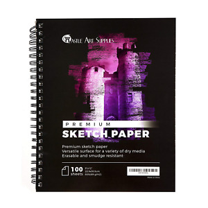 "Sketch Book 9"" X 12'' Sketchbook, 9"" X 12'' Drawing Paper 100 Sheets"