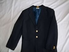 Boys VAN HEUSEN Navy 15% Wool BLAZER JACKET Size 10 R Regular Dressy Suit Coat