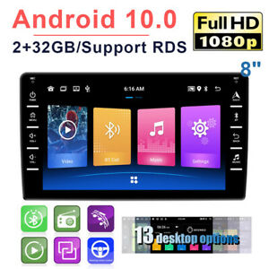 """Car MP5 Player 8"""" Android 10.0 Stereo GPS Navigation 2 Din HD WiFi 2+32G Radio"""