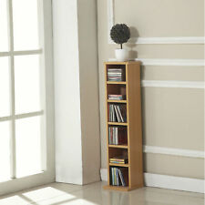Homcom CD DVD Media Storage Wooden Shelves Book Case Rack Video Unit Stand